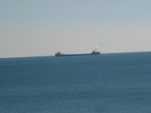 Tanker close to shore day after Thanksgiving