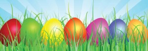 easter eggs cropped clip art image