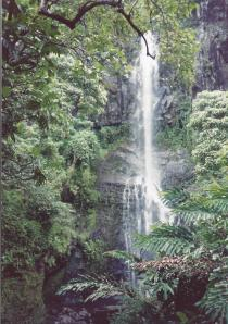 Closeup of Hana waterfall